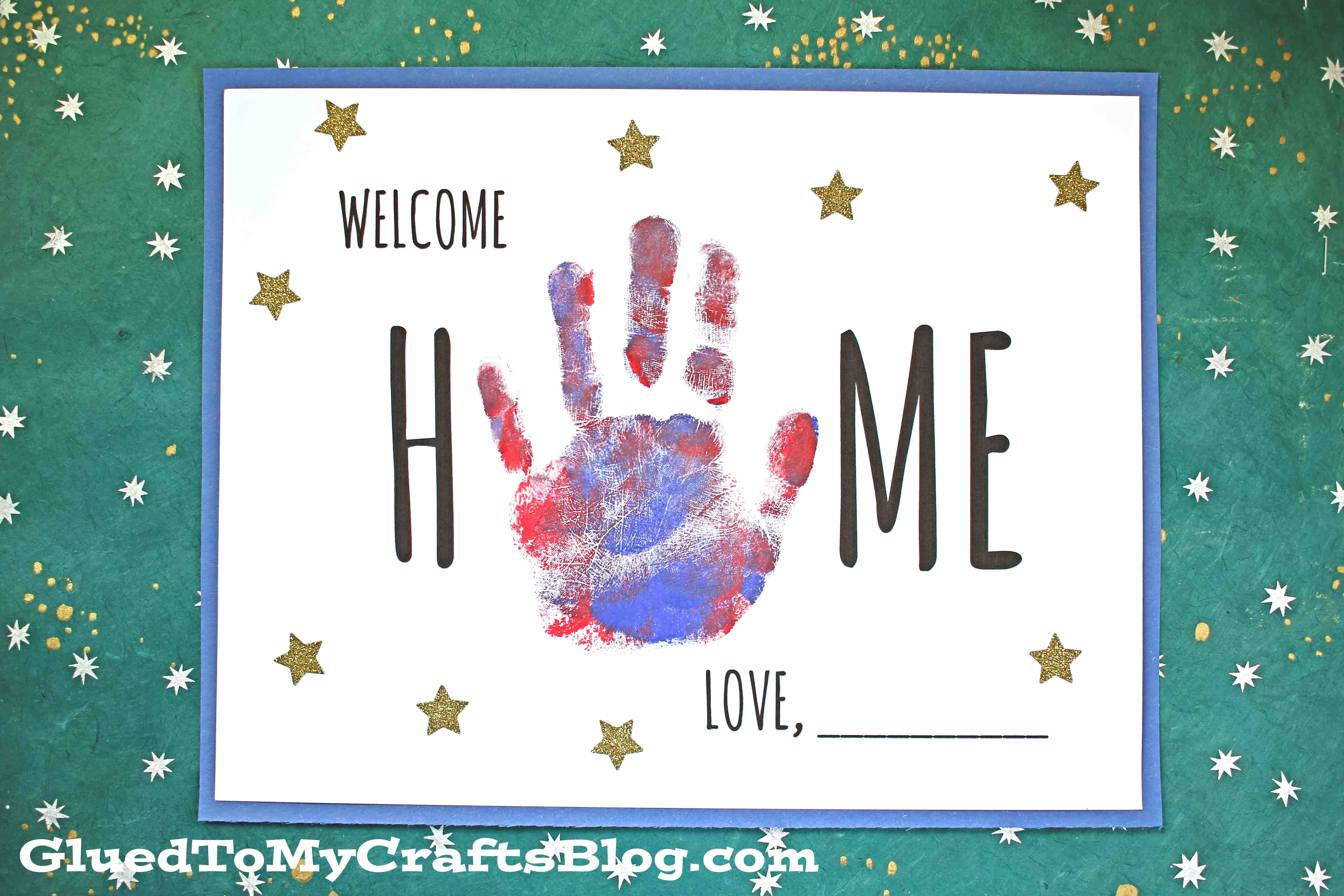 Handprint Welcome Home Keepsake For Kids To Make