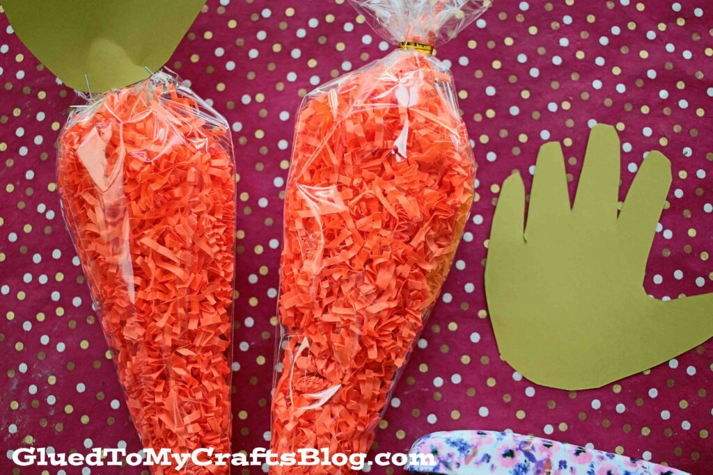 Crinkle Paper Carrot Craft For Kids To Make This Easter!