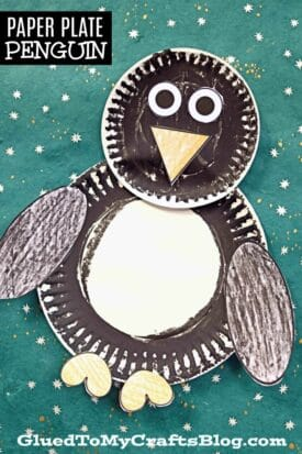 5 Minute Paper Plate Penguin Kid Craft Idea