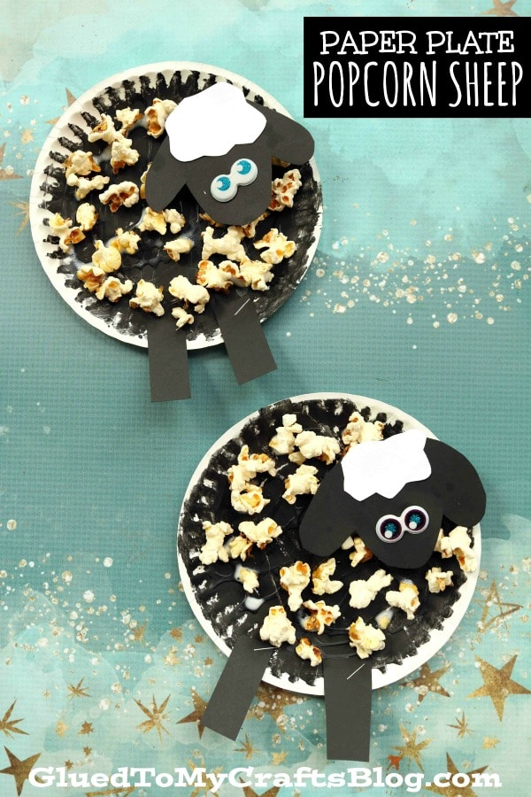 Today's paper plate & popcorn sheep craft tutorial is the simplest kids craft idea EVER!