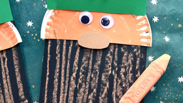 Paper & Chalk Art Leprechaun Beard Craft For Kids
