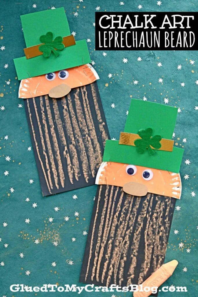 Paper & Chalk Art Leprechaun Beard Craft For Kids