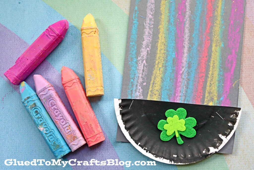 Chalk Art Rainbow Pot of Gold - Kid Craft Idea