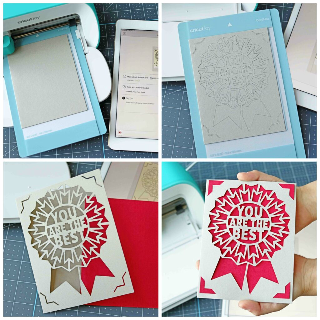 The Cardmaking Steps Using The Cricut Joy Machine