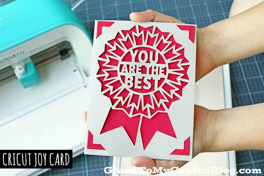 Three Small Projects To Make With Cricut Joy Today - You Are The Best Card