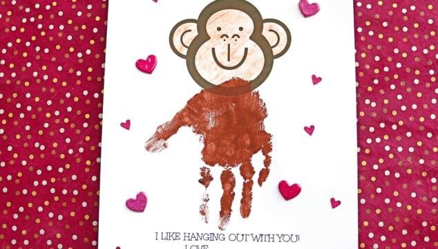 Handprint Monkey - I Like Hanging Out With You Keepsake