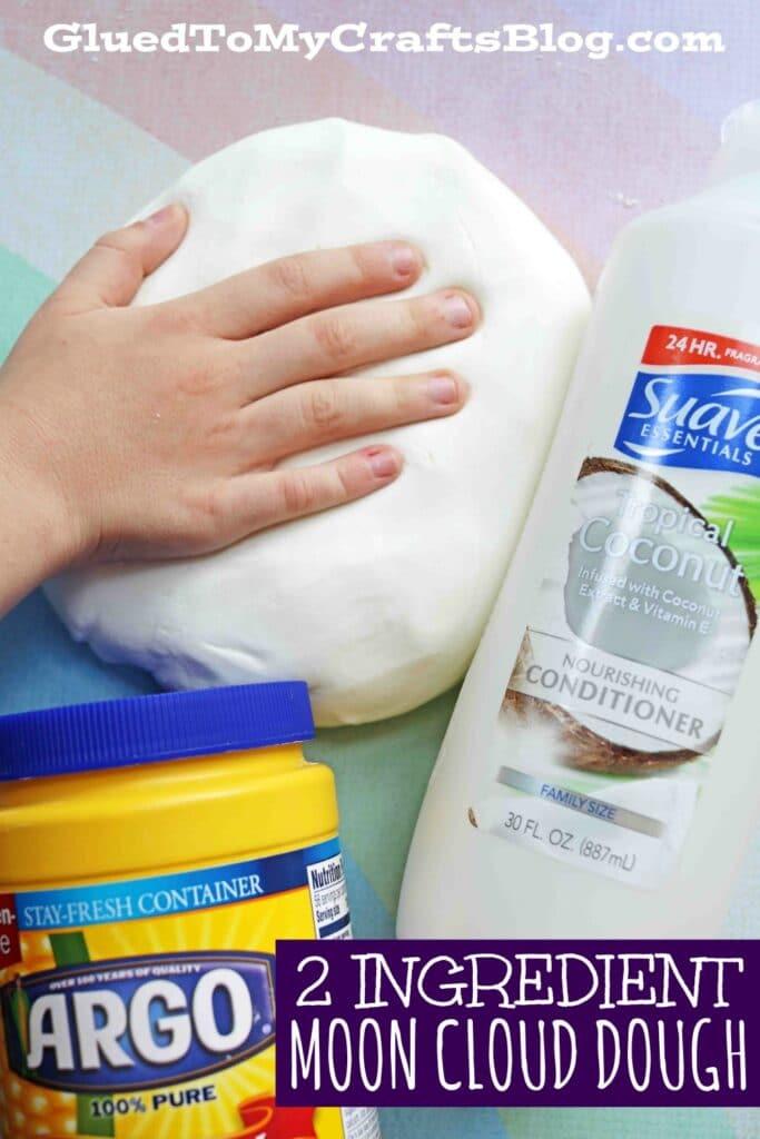Super FUN and EASY Moon Dough Slime Recipe