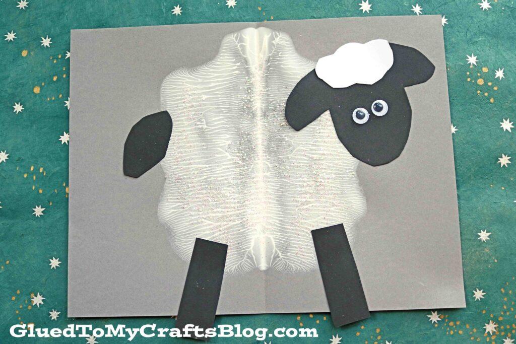 Paint Splat Sheep - Spring Kid Craft Idea
