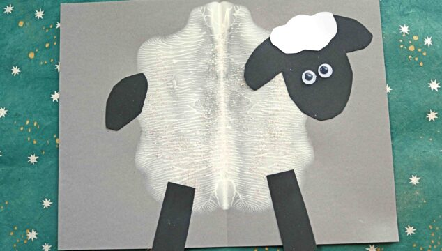 Paint Splat Sheep - Spring Kid Craft Idea
