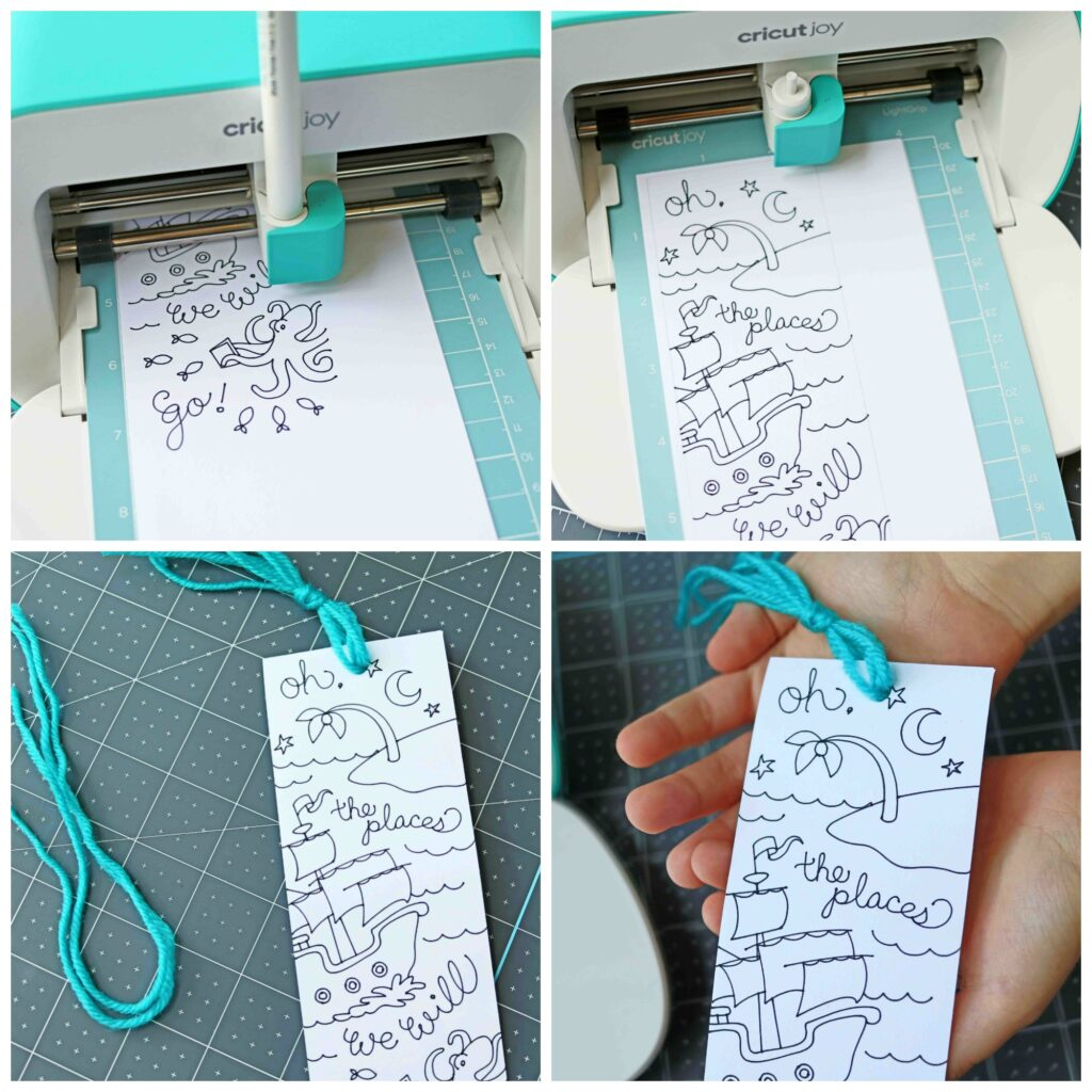 Cricut Joy Bookmark Making Craft Steps