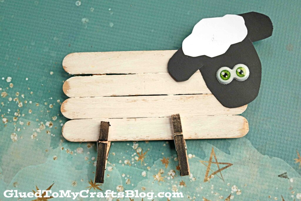 Adorable Popsicle Stick Sheep Craft For Kids To Recreate