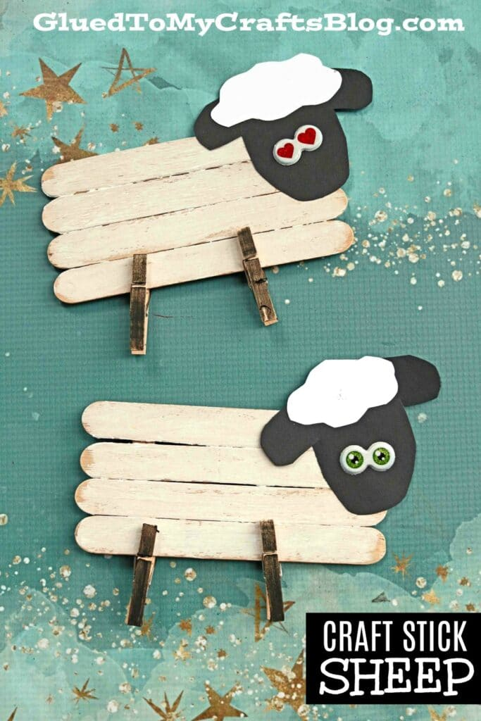 Craft Stick Sheep - Kid Craft Idea