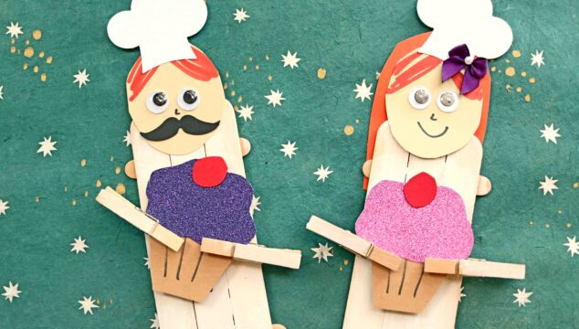 Popsicle Stick Cupcake Baker Puppets -Popsicle Stick Cupcake Baker Puppets - Kid Craft Idea Kid Craft Idea
