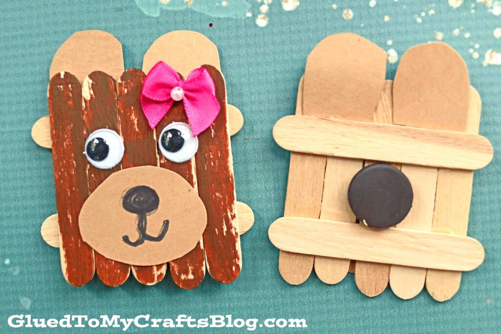 Diy Popsicle Stick Mama Bear Magnets Gift Idea Glued To My Crafts