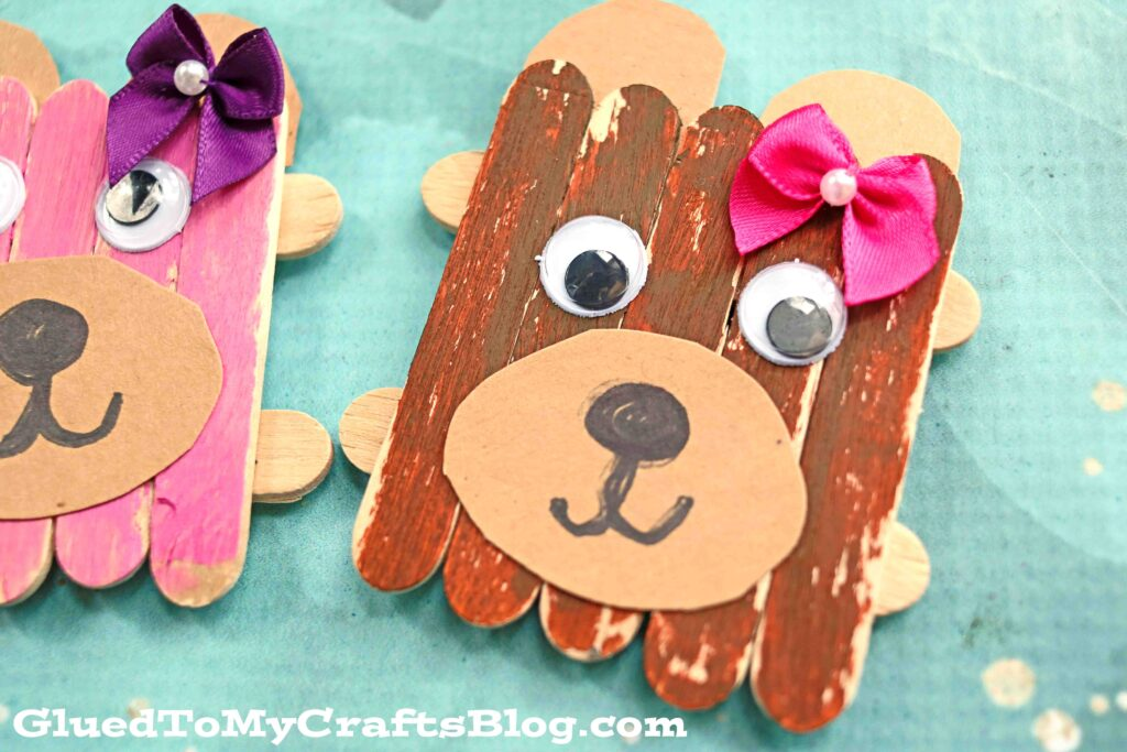 Popsicle Stick Mama Bear Magnets - Mother's Day Gift Idea