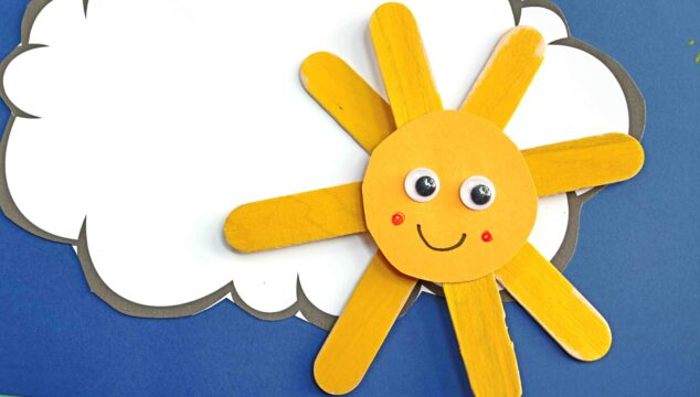 Paper & Popsicle Stick Sunshine - Kid Craft Idea