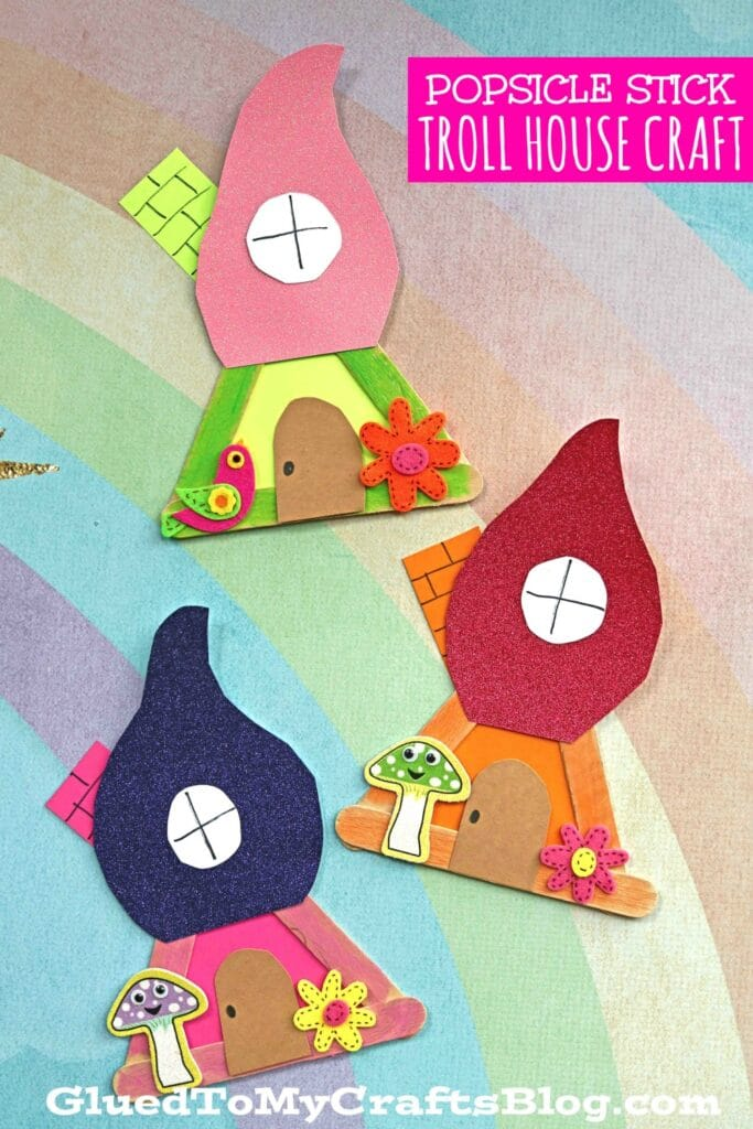 Popsicle Stick Troll House - Kid Craft Idea