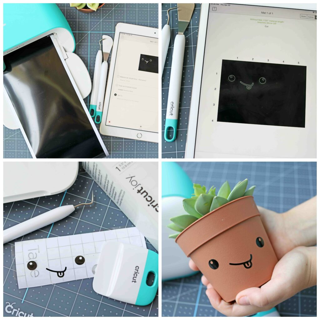 Smiling Flowerpot Craft Steps Using The Cricut Joy Machine