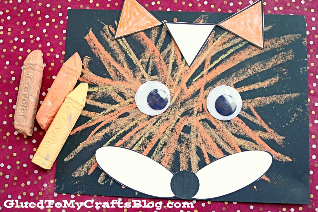 Paper Fox & Sidewalk Chalk Craft For Kids
