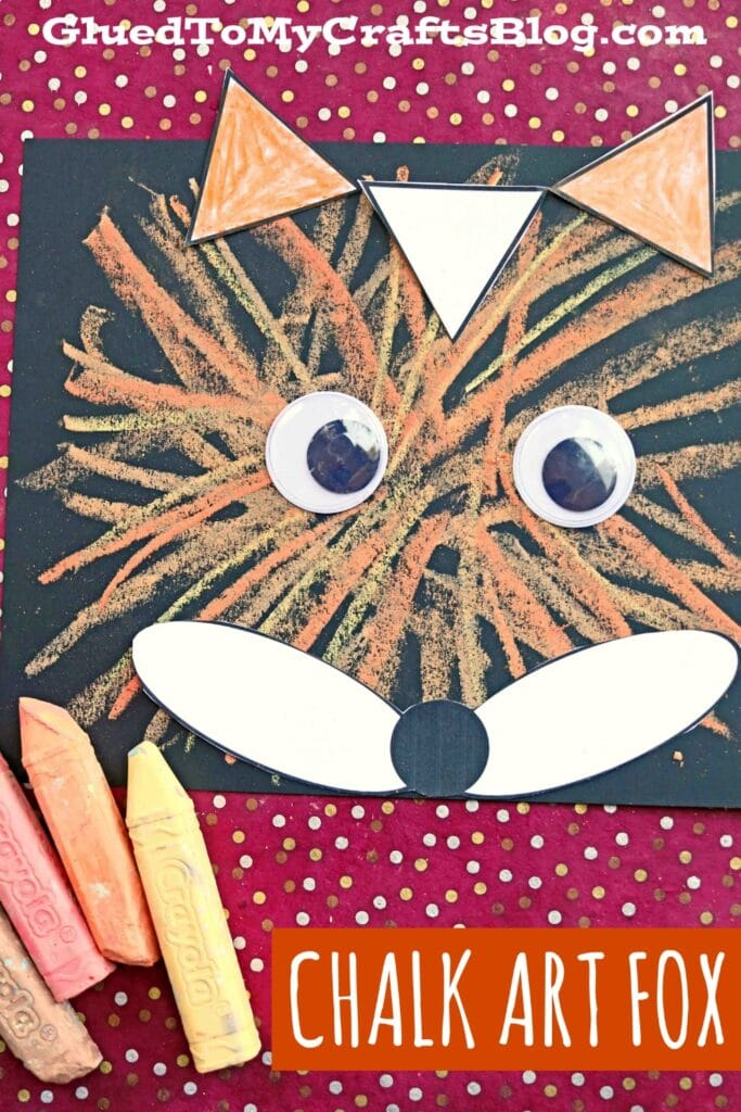 Chalk Art Fox - Kid Craft Idea For Summer