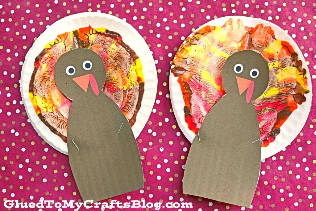 Colorful Paint Splat Turkey - Thanksgiving Kid Craft Idea