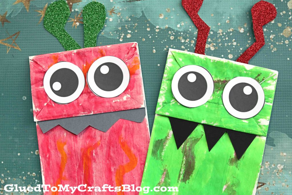 Paper Bag Monster Puppet - Kid Craft Tutorial