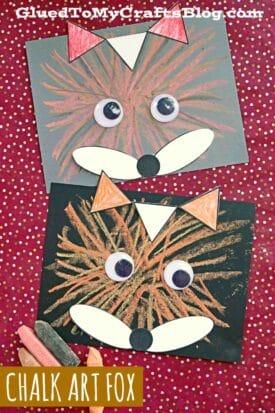 Chalk Art Fox - Creative Paper & Sidewalk Chalk Craft For Kids