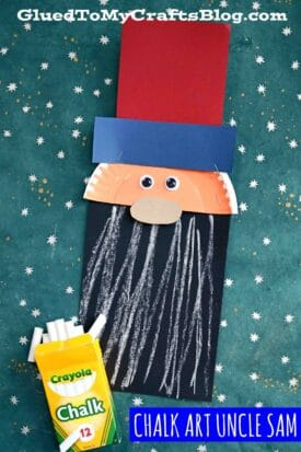 Paper & Chalk Art Uncle Sam Craft For Kids To Make