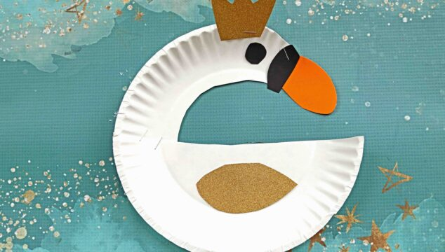 Elegant & Super Easy Paper Plate Swan - Kid Craft Idea