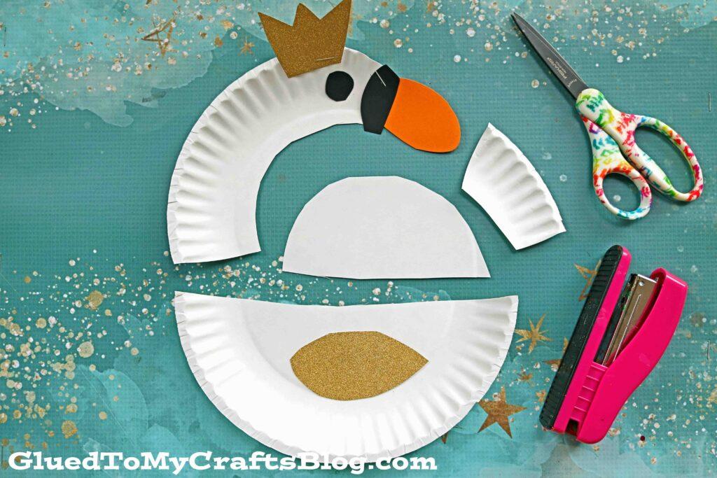 Elegant & Super Easy Paper Plate Swan - Kid Craft Idea