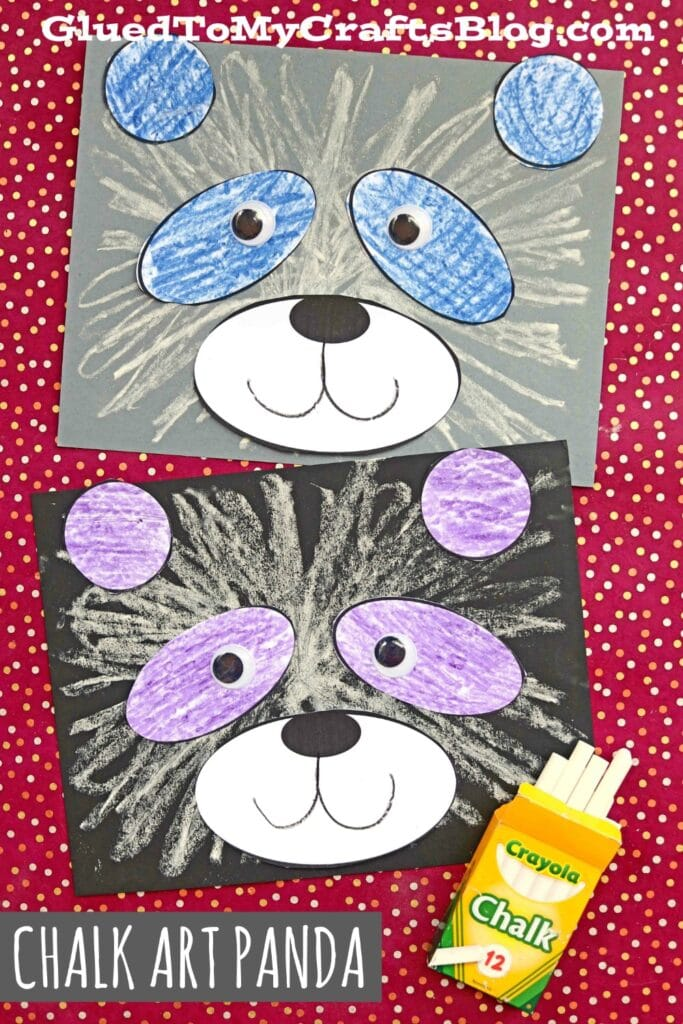 Fluffy Paper & Chalk Art Panda Bear Craft For Kids