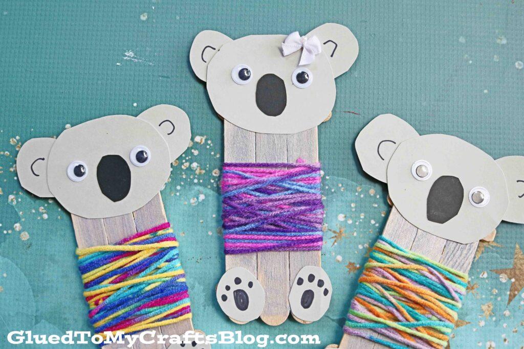 Popsicle Stick Koala Bear In Sweater - Kid Craft