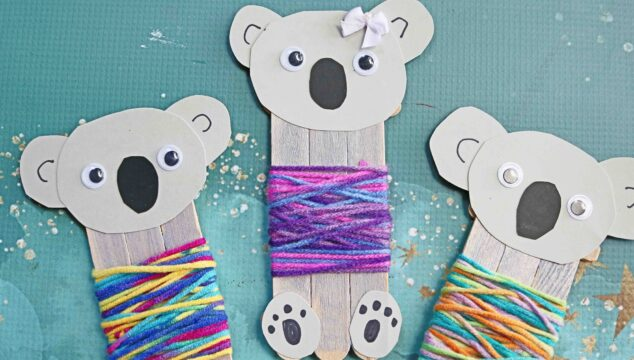 Popsicle Stick Koala Bear In Sweater - Kid Craft