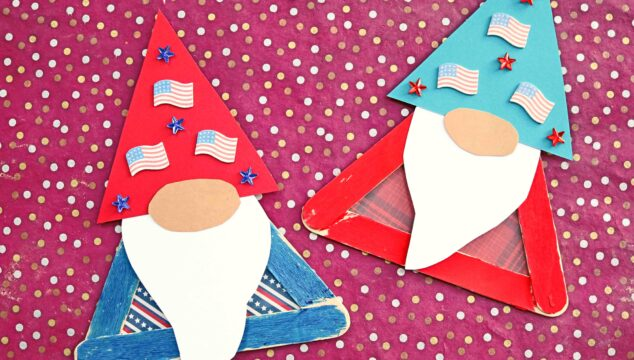 Popsicle Stick Patriotic Gnome - Kid Craft Idea