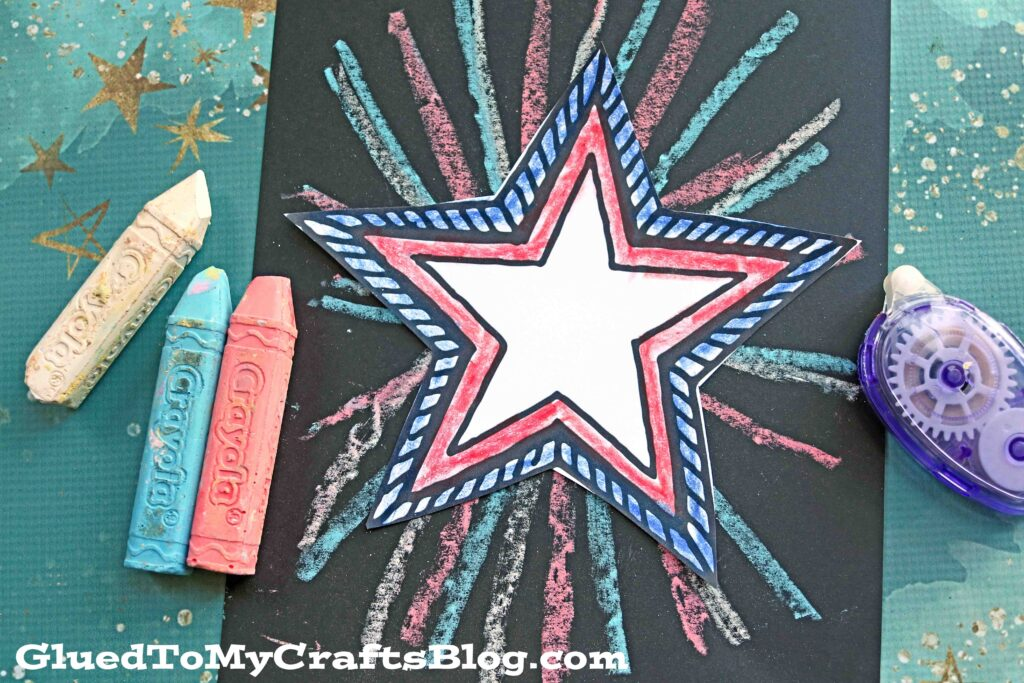 Patriotic Chalk Art Craft Idea For Kids To Make This Summer!