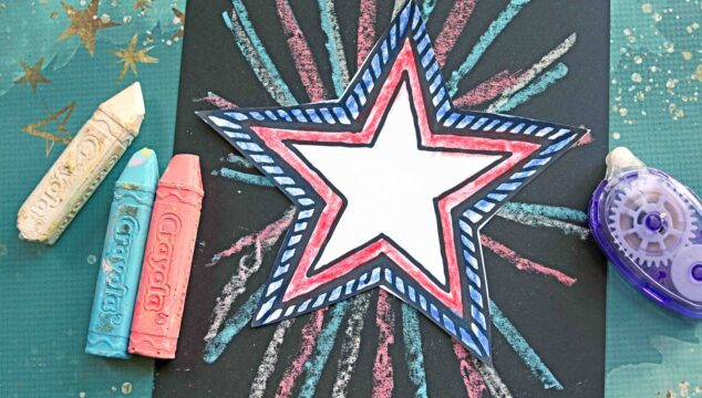 Patriotic Chalk Art Craft Idea For Kids To Make This Summer!