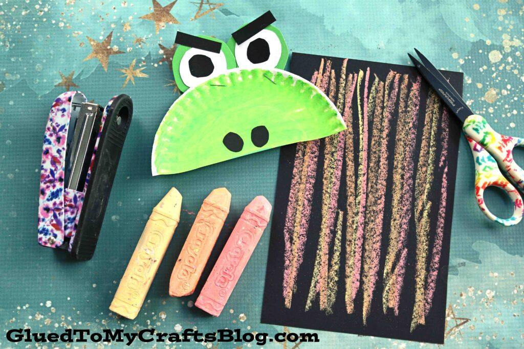 Chalk Art Firing Breathing Dragon - Paper Craft For Kids