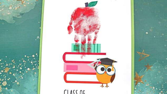 "Handprint ""Class of"" Apple Keepsake Idea For Preschool or Kindergarten Graduation"