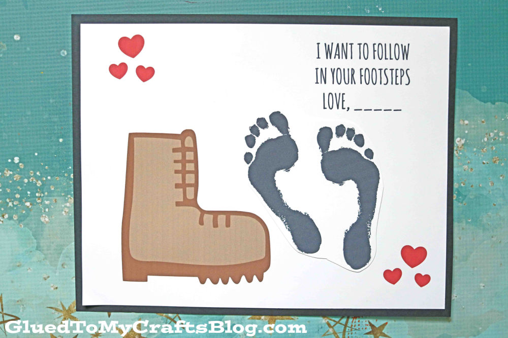In Your Footprints - Father's Day Keepsake Idea