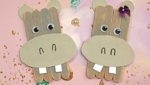 Popsicle Stick Hippo - Crafty Idea For Kids