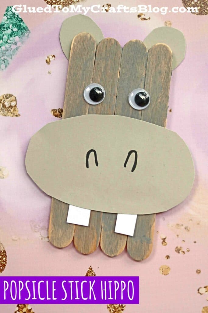 Popsicle Stick Hippopotamus - Kid Craft Tutorial