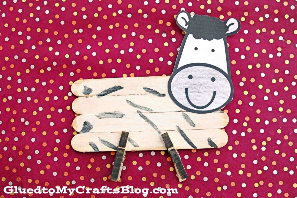 Paint & Popsicle Stick Zebra - Kid Craft Tutorial