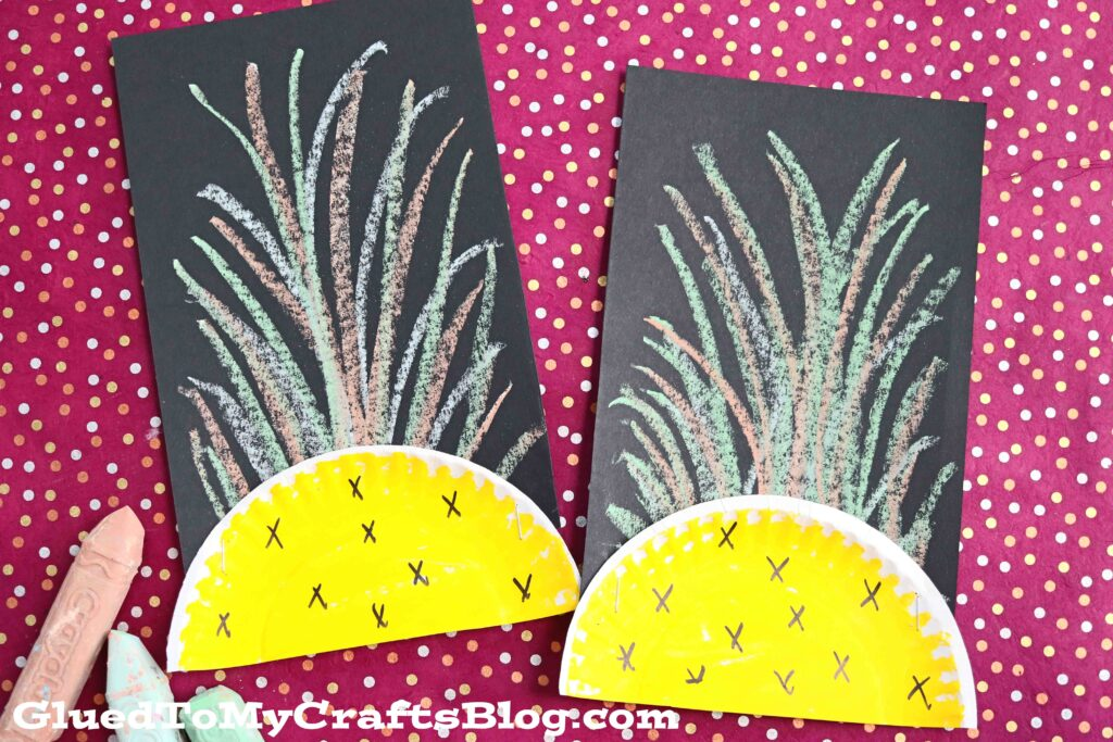 Paper Plate Pineapple - Kid Craft