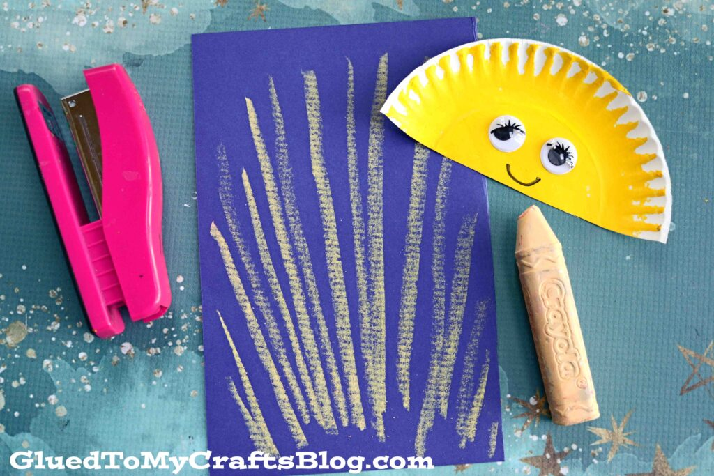 Paper & Sidewalk Chalk Smiling Sunshine Craft For Kids