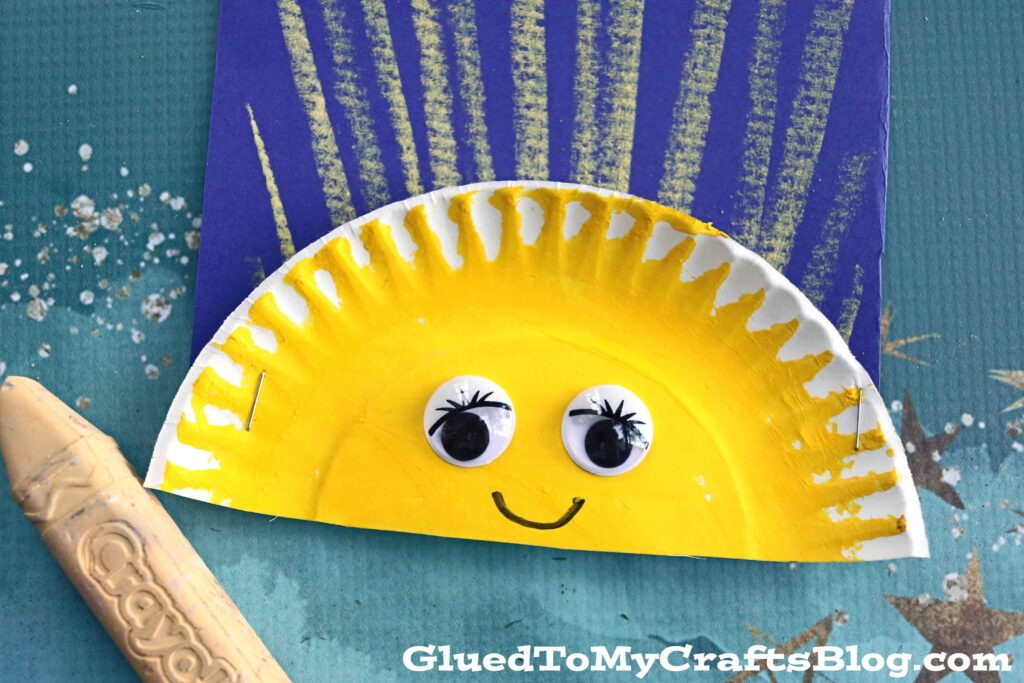 Chalk Art Sunshine - Kid Craft Idea For Summer