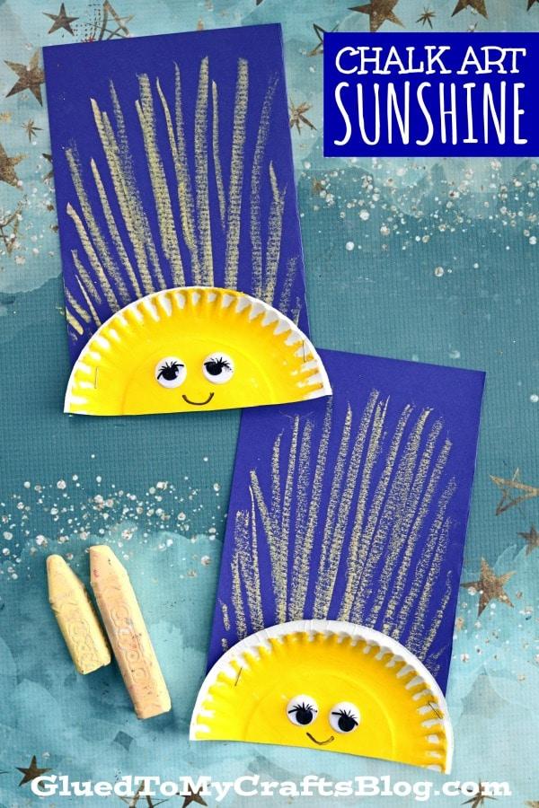 Chalk Art Sunshine Craft For Children