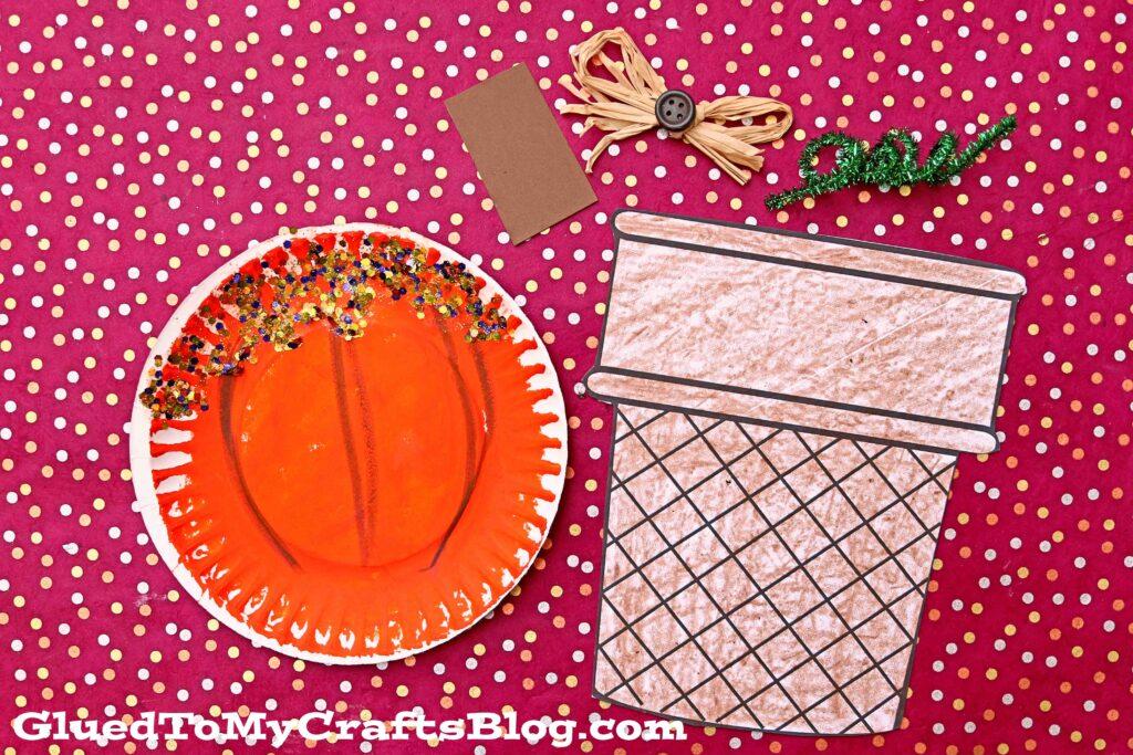 Paper Plate Pumpkin Ice Cream Cone Craft For Kids