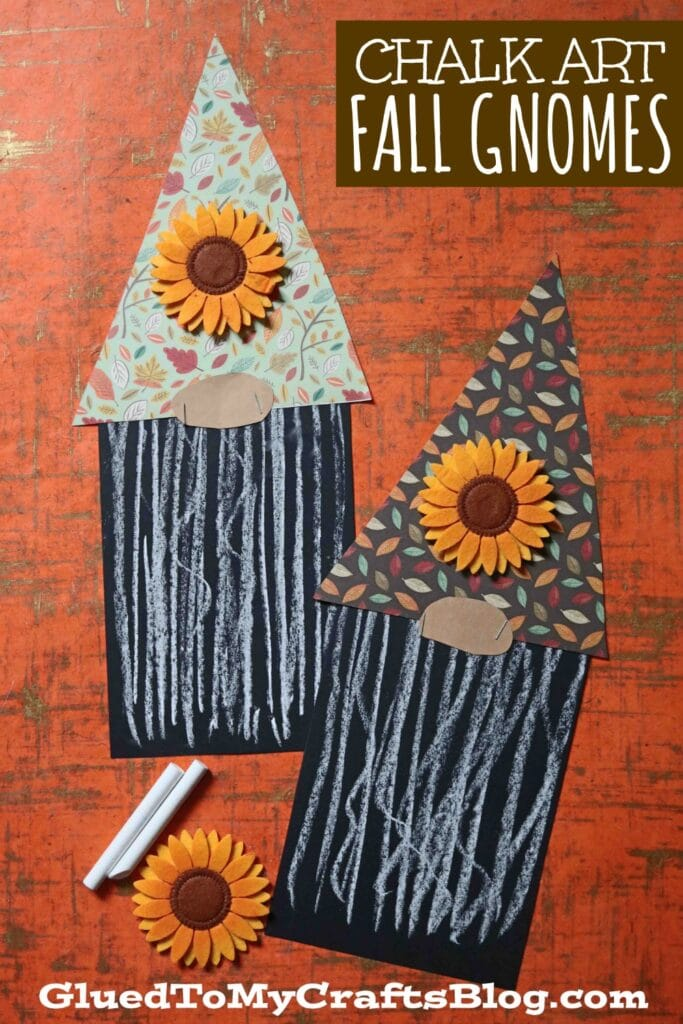 Paper & Chalk Art Fall Gnome Craft For Kids To Make