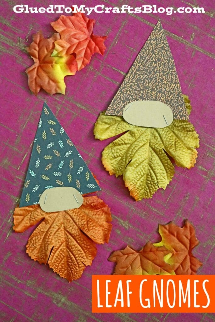 SUPER EASY AND CHEAP LEAF GNOME KID CRAFT IDEA
