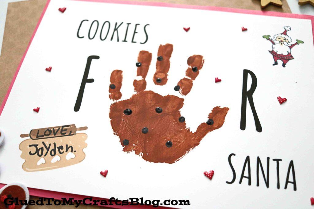 "Handprint ""Cookies For Santa"" Keepsake Craft For Christmas"
